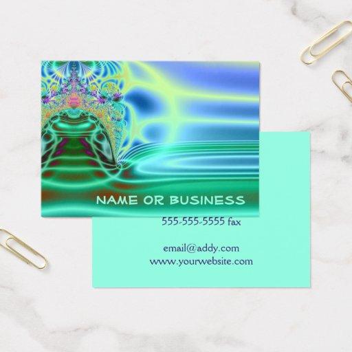 Inside A Water Drop Abstract Fractal Art Business Card