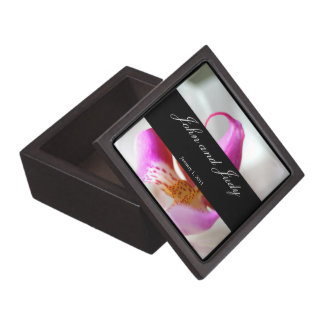 Inside a White Orchid Personal Wedding Keepsake Box