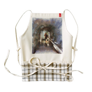 Inside an ice tunnel in Switzerland Zazzle HEART Apron