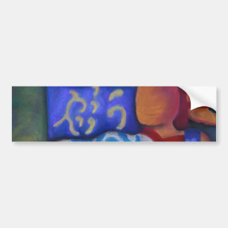 Inside and Out – Azure and Crimson Passage Car Bumper Sticker