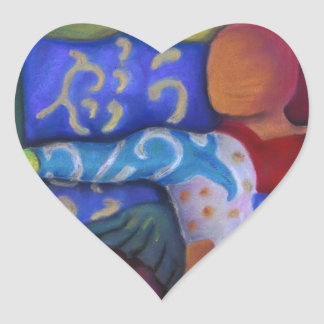 Inside and Out – Azure and Crimson Passage Heart Sticker