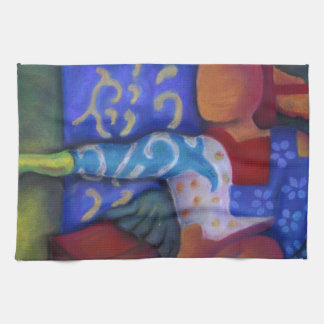 Inside and Out – Azure and Crimson Passage Hand Towel