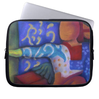 Inside and Out – Azure and Crimson Passage Laptop Sleeve