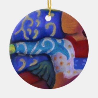 Inside and Out – Azure and Crimson Passage Christmas Tree Ornament