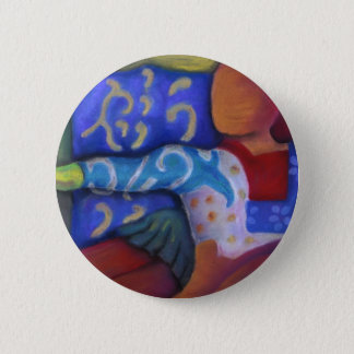 Inside and Out – Azure and Crimson Passage Pinback Button