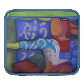 Inside and Out – Azure and Crimson Passage Sleeve For iPads
