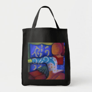 Inside and Out – Azure and Crimson Passage Tote Bag