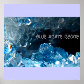 INSIDE blue agate geode Print