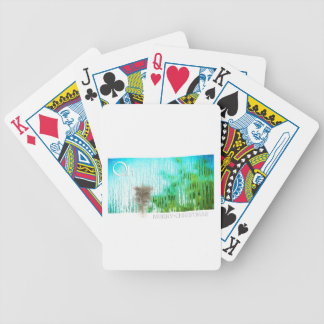 inside christmas bicycle playing cards