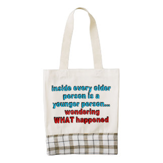 Inside every older person is a younger person... zazzle HEART tote bag