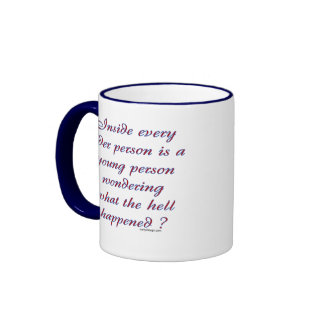 Inside Every Older Person Ringer Coffee Mug