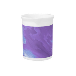 inside flower blue pitcher