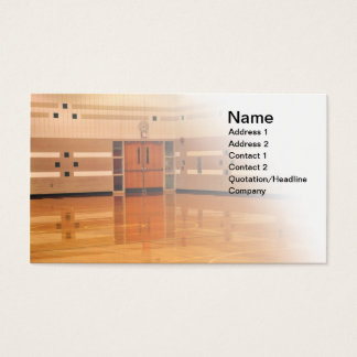 inside gymnasium business card