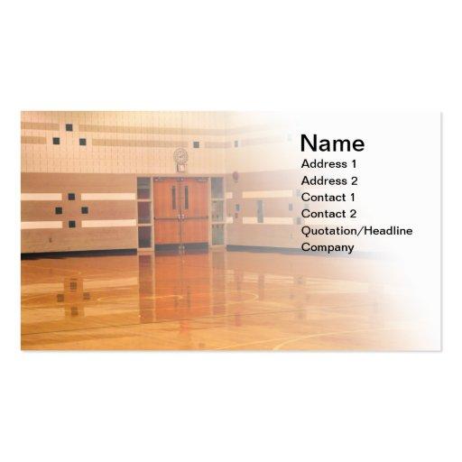 inside gymnasium business cards