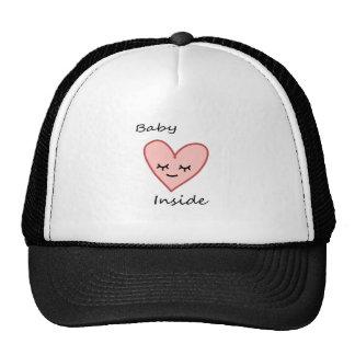 Inside Heart Cap for Pregnant Woman Cute Pink Trucker Hat