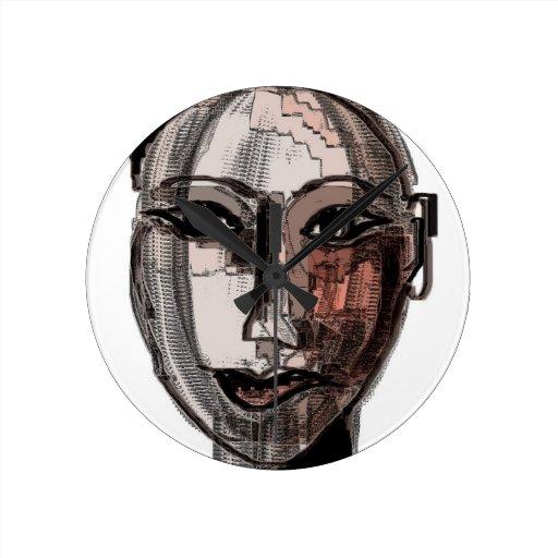 inside her preatty head wall clock