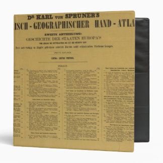 Inside Historischgeographischer Hand Atlas Binders