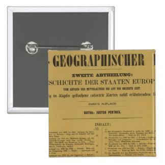 Inside Historischgeographischer Hand Atlas Pinback Button