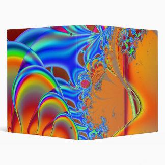 Inside I · Fractal Art · Blue & Orange 3 Ring Binder