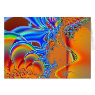 Inside I · Fractal Art · Blue & Orange Card