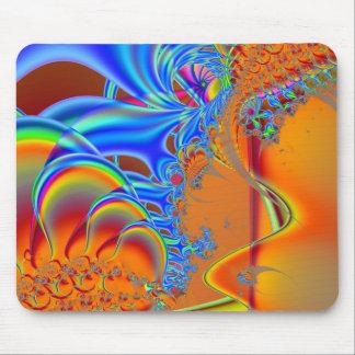 Inside I · Fractal Art · Blue & Orange Mouse Pad