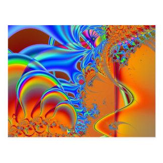 Inside I · Fractal Art · Blue & Orange Postcard