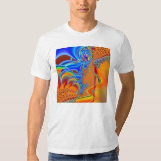 Inside I · Fractal Art · Blue & Orange T Shirt