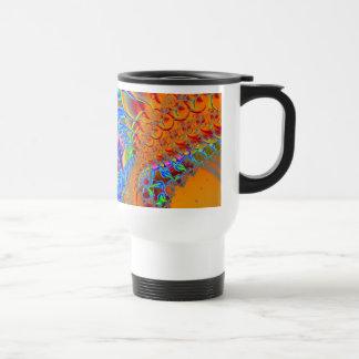 Inside I · Fractal Art · Blue & Orange Travel Mug