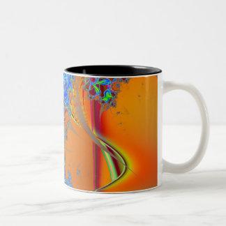Inside I · Fractal Art · Blue & Orange Two-Tone Coffee Mug