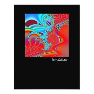 Inside II · Fractal Art · Aqua & Red Card