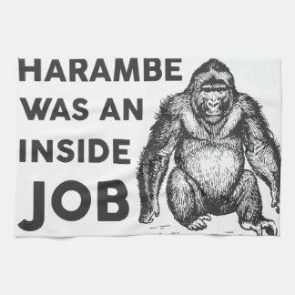 Inside Job Harambe Hand Towel