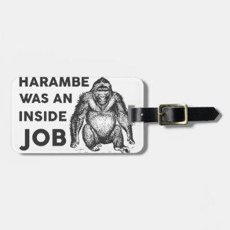 Inside Job Harambe Luggage Tag