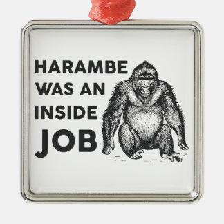Inside Job Harambe Metal Ornament