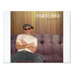 "Inside Joke 4.25"" X 5.5"" Invitation Card"