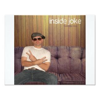 Inside Joke 4.25x5.5 Paper Invitation Card