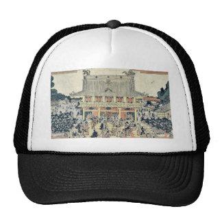 Inside Kameido Tenmangu Shrine by Tamagawa,Shucho Trucker Hat