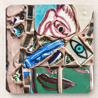 Inside Looking Out Mosaic Graffiti Beverage Coasters