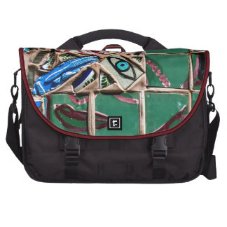 Inside Looking Out Mosaic Graffiti Laptop Commuter Bag