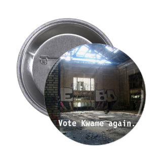inside-michigan-central-station-main-area, Vote... Pinback Button