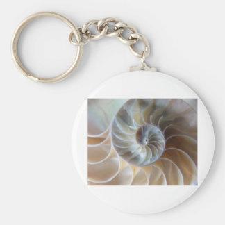 Inside Nautilus Basic Round Button Keychain
