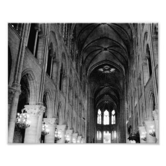 Inside Notre Dame Cathedral Photo Art