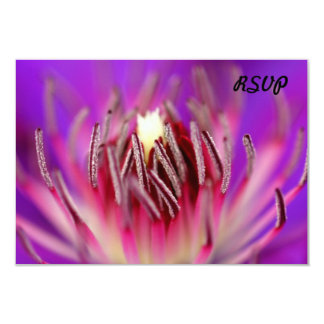 Inside of a flower 3.5x5 paper invitation card