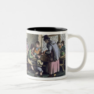 Inside of a Kitchen at Newcastle, published 1800 ( Two-Tone Coffee Mug