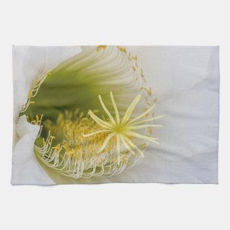 Inside of an Echinopsis in bloom Kitchen Towel