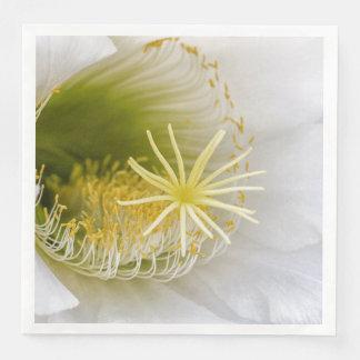 Inside of an Echinopsis in bloom Paper Dinner Napkin