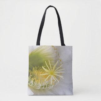 Inside of an Echinopsis in bloom Tote Bag