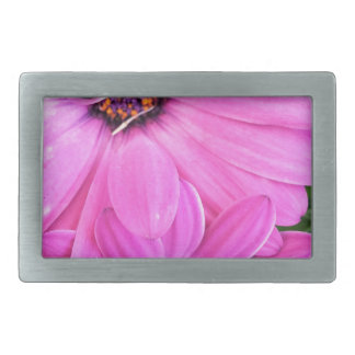 Inside of Pink Purple Gerbera Daisy Flower Nature Rectangular Belt Buckles