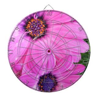 Inside of Pink Purple Gerbera Daisy Flower Nature Dartboard