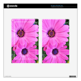 Inside of Pink Purple Gerbera Daisy Flower Nature Decal For Kindle Fire