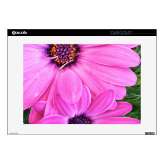 Inside of Pink Purple Gerbera Daisy Flower Nature Decals For Laptops